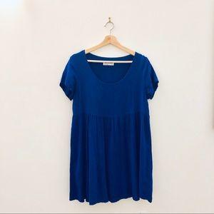 American Apparel Royal Blue Babydoll Dress